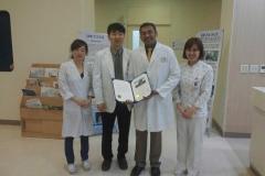 recieving shoulder fellowship in korea