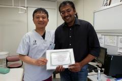 reciveing hip arthroscopy training certificate - japan